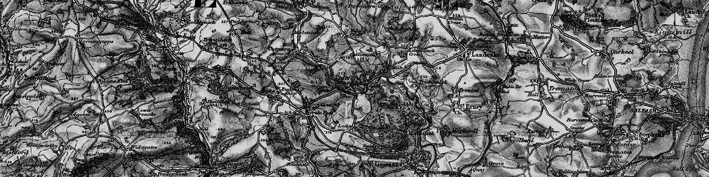 Old map of Lantallack Cross in 1896