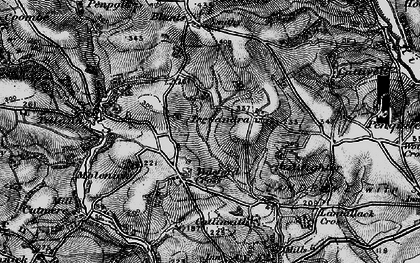 Old map of Tideford Cross in 1896