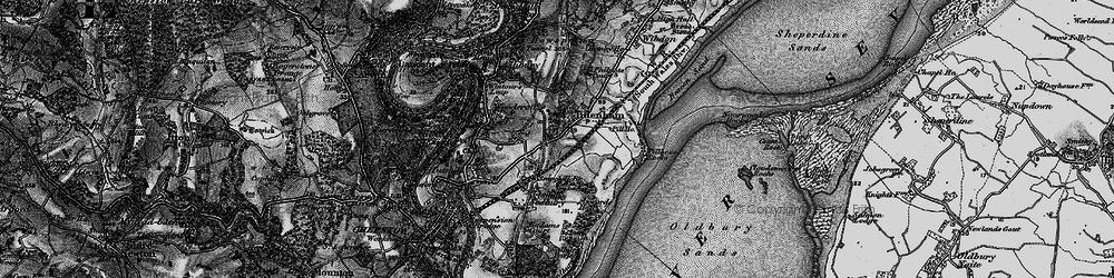 Old map of Tidenham in 1897