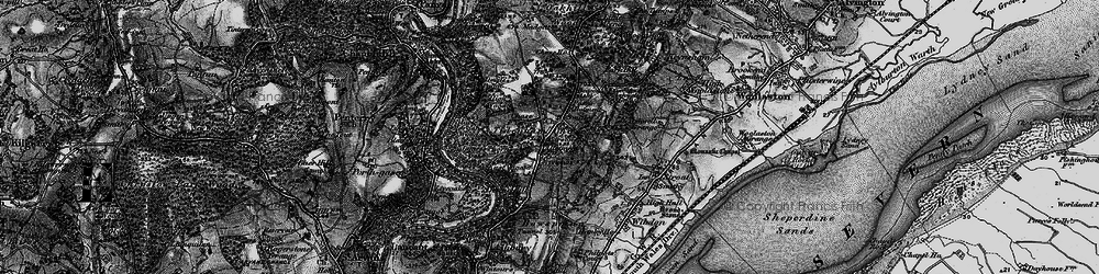 Old map of Tidenham Chase in 1897