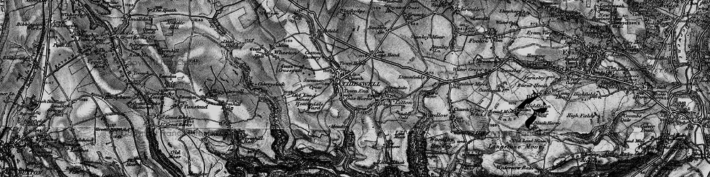 Old map of Tideswell in 1896