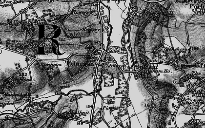 Old map of Tidmarsh in 1895