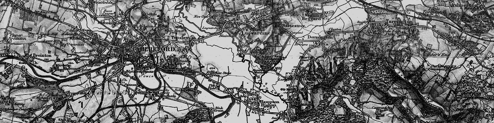 Old map of Tidnor in 1898