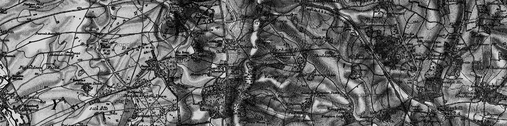 Old map of Tidworth in 1898
