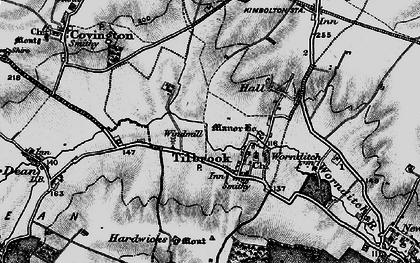 Old map of Tilbrook Bushes in 1898