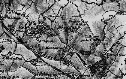 Old map of Tilbury Green in 1895
