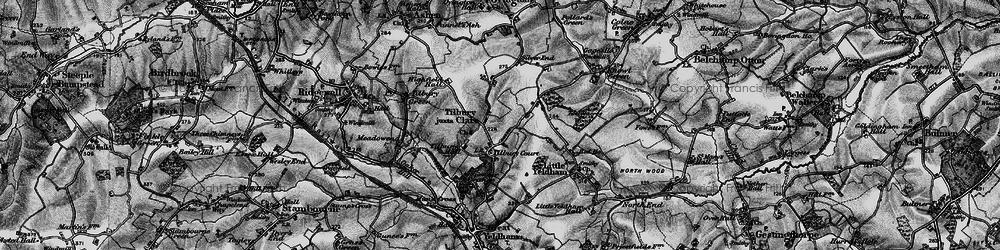 Old map of Tilbury Juxta Clare in 1895