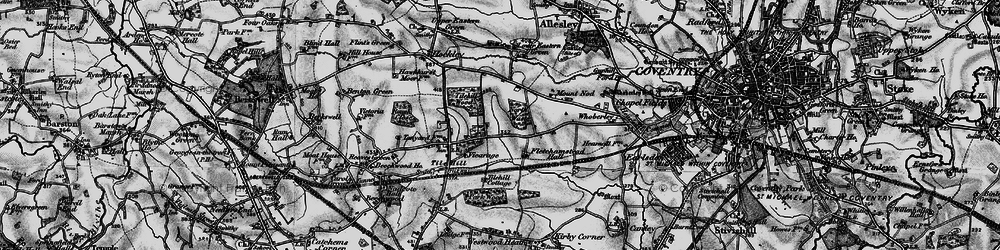 Old map of Tile Hill in 1899