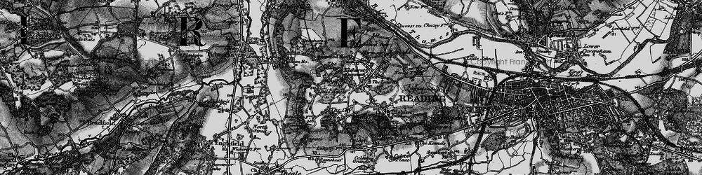 Old map of Tilehurst in 1895