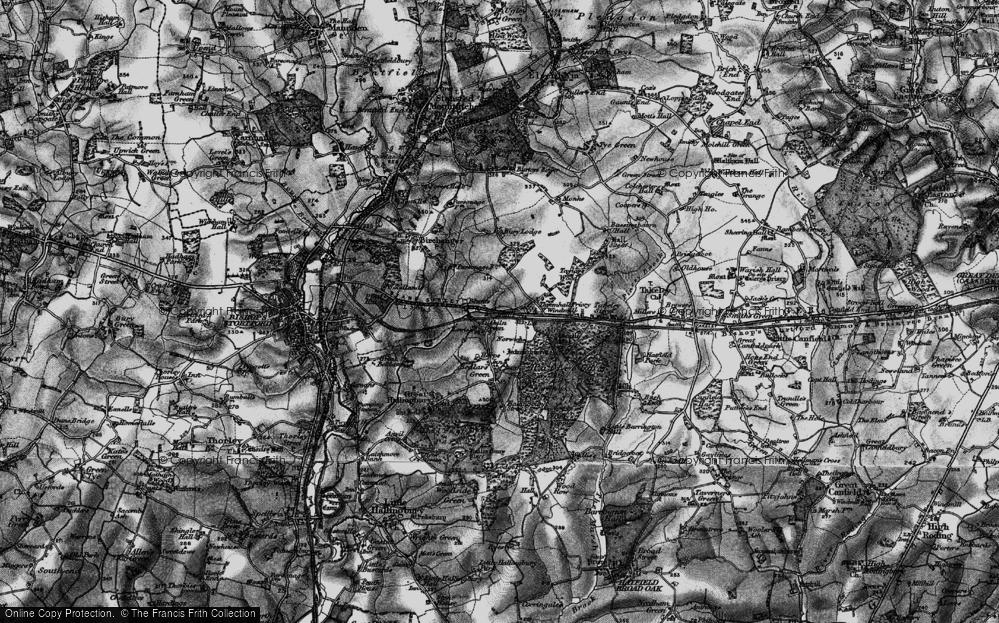 Old Map of Tilekiln Green, 1896 in 1896
