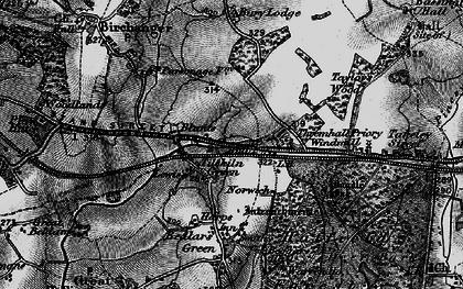 Old map of Tilekiln Green in 1896