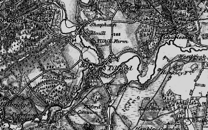 Old map of Tilhill Ho in 1895