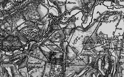 Old map of Yagden Hill in 1895