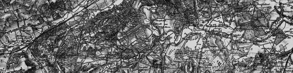 Old map of Tilford Reeds in 1895