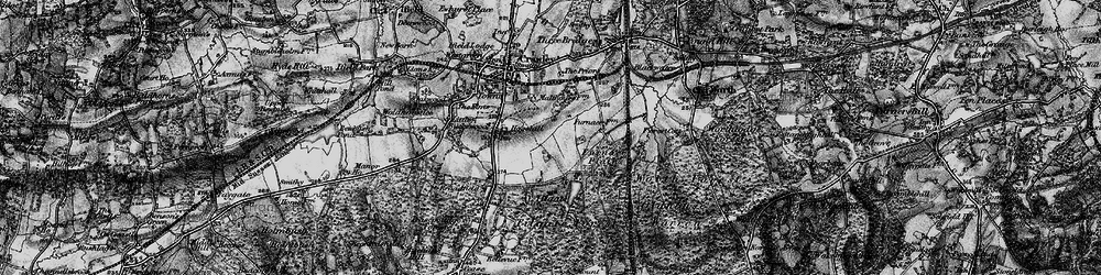 Old map of Tilgate in 1896