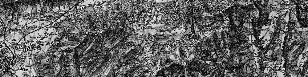Old map of Tilgate Forest Row in 1895