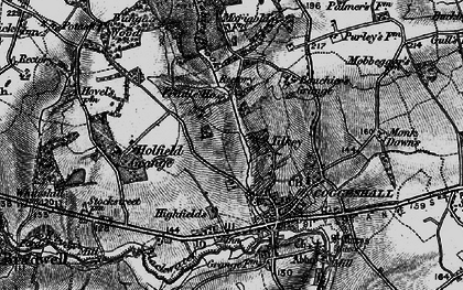 Old map of Tilkey in 1896