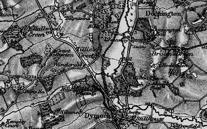 Old map of Tillers' Green in 1896