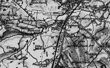 Old map of Tilley in 1897