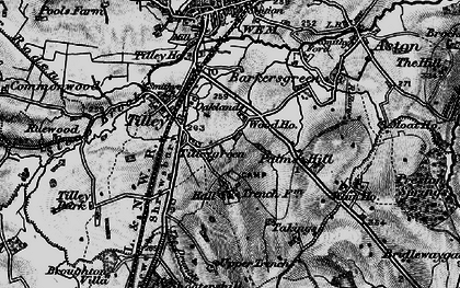 Old map of Tilley Green in 1897
