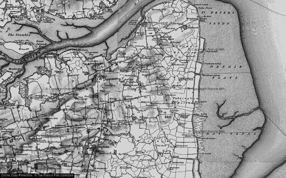 Old Map of Historic Map covering Leggatts in 1895