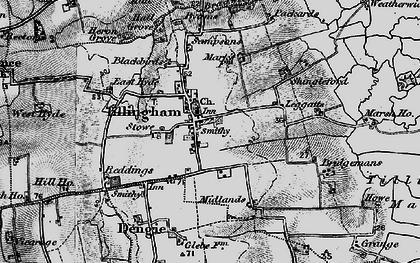 Old map of Tillingham in 1895