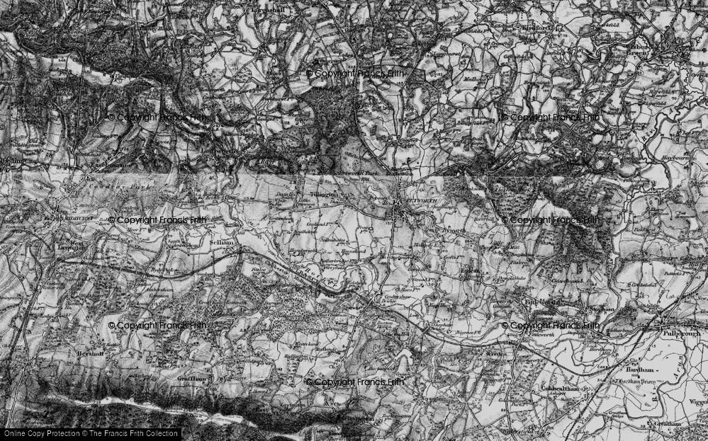 Old Map of Tillington, 1895 in 1895