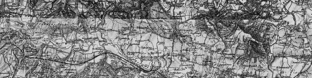 Old map of Tillington in 1895