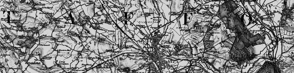 Old map of Tillington in 1898