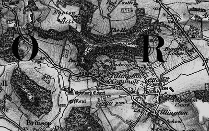 Old map of Badnage in 1898