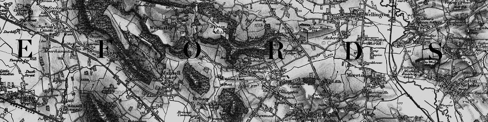 Old map of Tillington Common in 1898