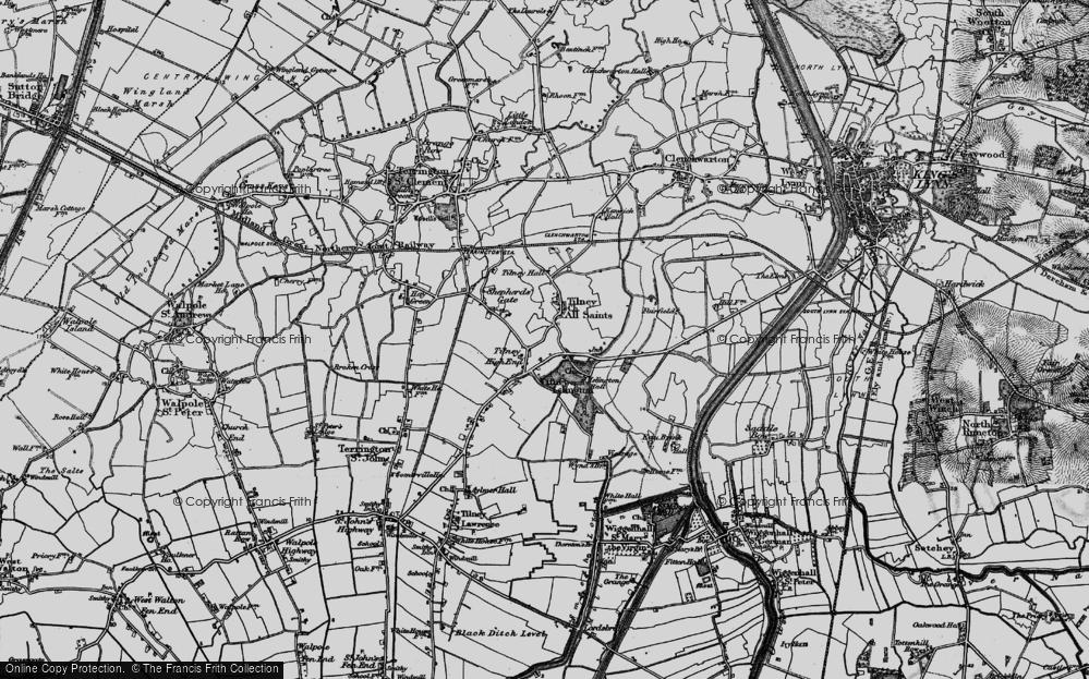 Old Map of Tilney All Saints, 1893 in 1893