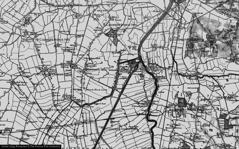 Old Map of Tilney cum Islington, 1893 in 1893
