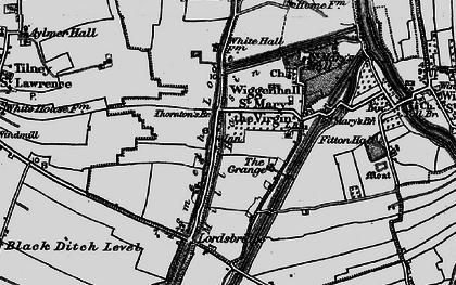 Old map of Tilney cum Islington in 1893