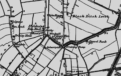 Old map of Tilney Fen End in 1893