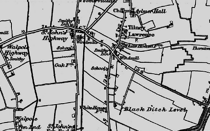 Old map of Aylmer Hall in 1893