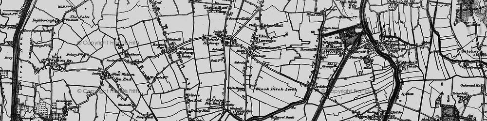 Old map of Tilney St Lawrence in 1893