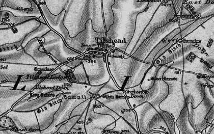 Old map of Tilshead in 1898