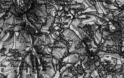Old map of Tilsop in 1899