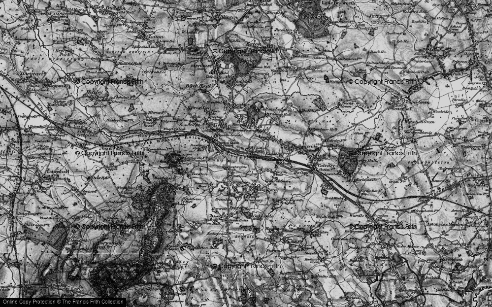 Old Map of Tilstone Bank, 1897 in 1897