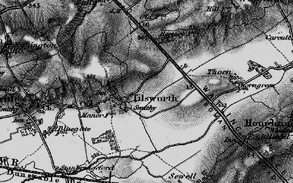 Old map of Tilsworth in 1896