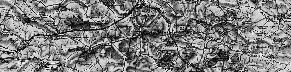 Old map of Tilton on the Hill in 1899