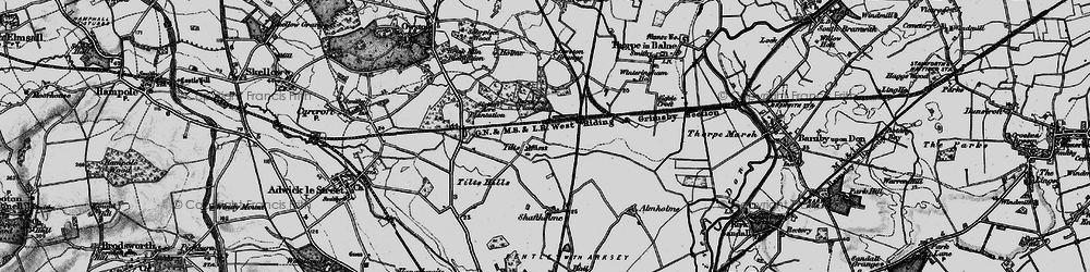 Old map of Tilts in 1895