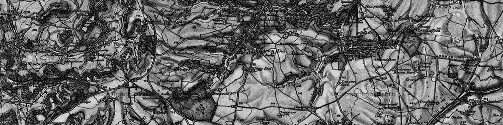 Old map of Tiltups End in 1897
