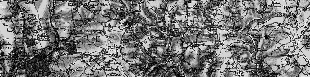 Old map of Tingates in 1895