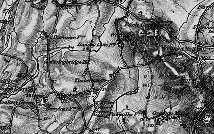 Old map of Timberhonger in 1898