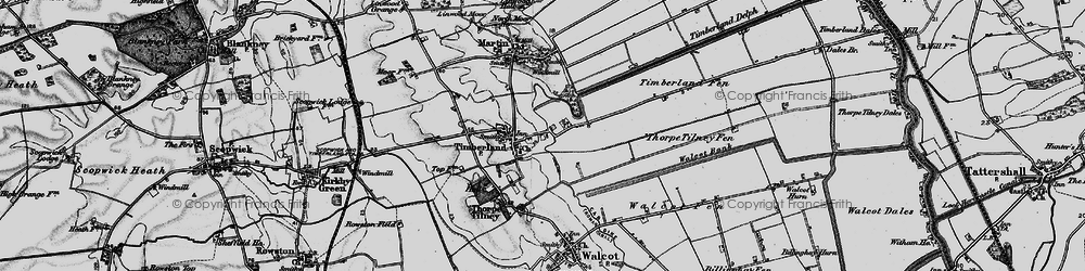 Old map of Timberland in 1899