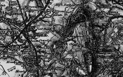 Old map of Timbersbrook in 1897