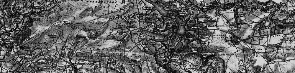 Old map of Timble Gill Beck in 1898