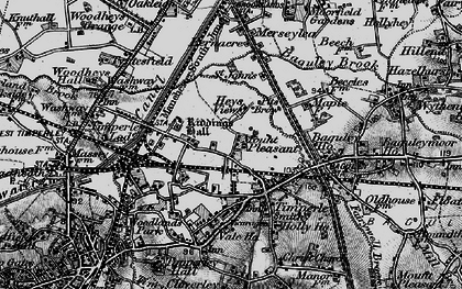 Old map of Timperley in 1896